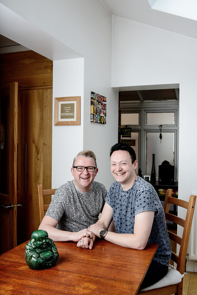 Jason Brett & Rob Chadbank photographed in their home